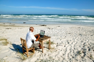 study by the beach